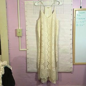 MASON BELLE  women's lacy midi dress  XL cream